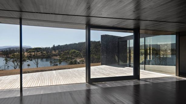 D'Entrecasteaux House won last year's Tasmanian Australian Institute of Architects' chapter award for new residential. Photo: Ben Hosking