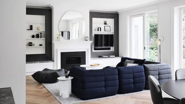 Gillianne Griffiths was tasked with undertaking an extensive update of the five-bedroom house in Toorak. Photo: Sharyn Cairns