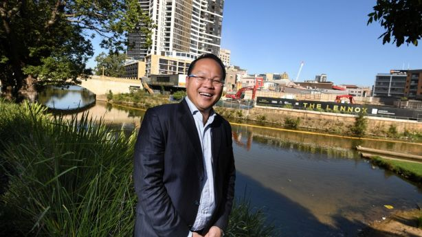 Property investor Douglas Lei bought his first apartment in Western Sydney and isn't worried about rent dipping in the region. Photo: Peter Rae