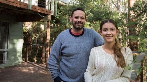 Ken Donohoe, with his 13-year-old daughter Ella, put his Mount Colah home on the market on Australia Day and is still waiting for a buyer. Photo: Wolter Peeters