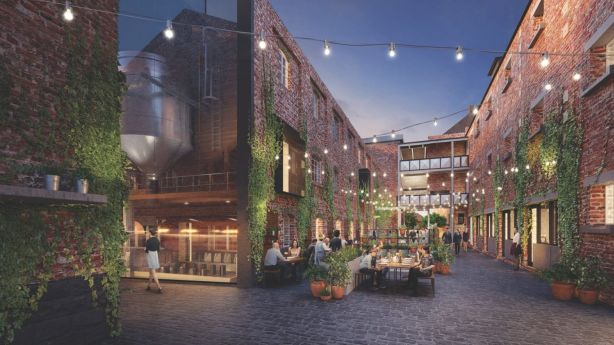 The new precinct has been influenced by the aesthetic of New York City's Meatpacking District.