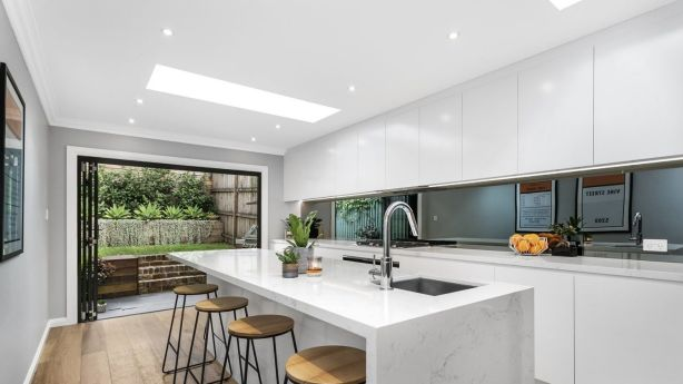 Ryan and Emily Braun's  renovation of a terrace in Redfern has created a stunning modern home. Photo: Supplied