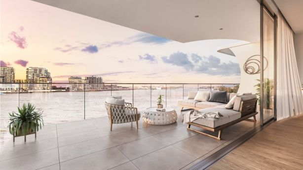 Open-plan living areas allow residents to take in the views. Photo: Artist's impression