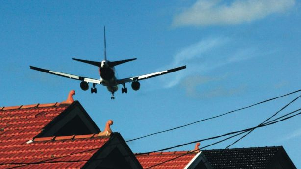 Inner city residents pretend they can get used to aircraft noise. Photo: Rob Homer