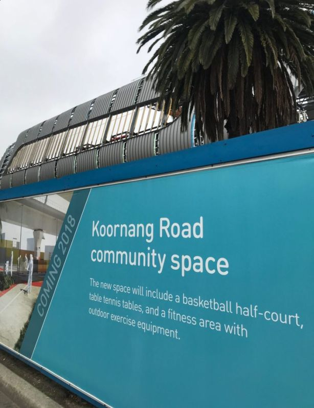 Koornang Road is getting another community space thanks to Sky Rail. Photo: Jayne D'Arcy
