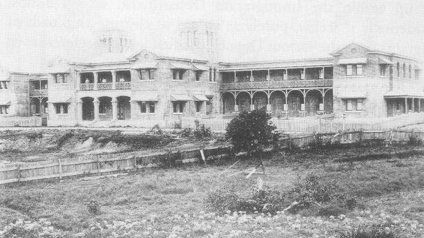 An photo of Yungaba House, date unknown. The facade of the buildings remains largely unchanged.
