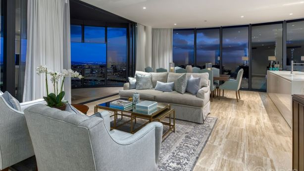 Inside the Abian apartment at 4102/140 Alice Street, Brisbane City, sold to a couple from Wagga for $4.21 million. Photo: Supplied
