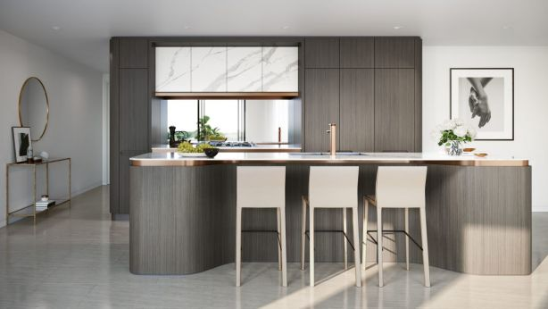 The interiors use natural colours and materials inspired by the sand and the warm greys and tones of eucalypts. Photo: Artist Impression