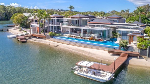 The Bells paid $10.3 million for the beachfront residence with two jetties. Photo: Domain