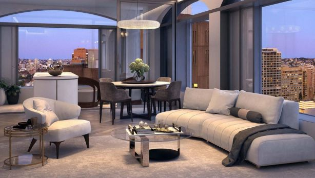 Sales of apartments in Castle Residences started last year, with the penthouse selling for $18 million before the official launch. Photo: Artist Impression