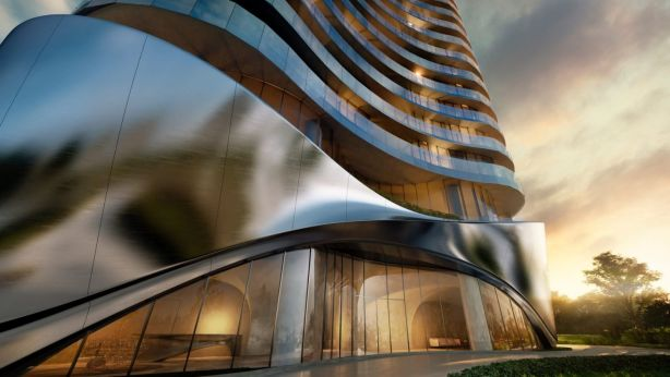 272 Hedges Avenue is a new waterfront apartment tower coming to Mermaid Beach on the Gold Coast. Photo: Artist impression