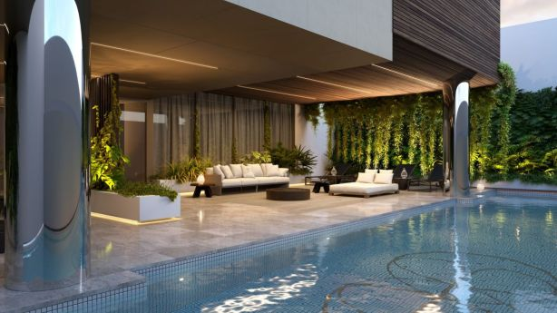 The fully-equipped gym, resort-style pool and sauna are places to find invigoration. Photo: Artist Impression
