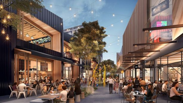 At the heart of it will be an Eat Street similar to the popular Spice Alley in Chippendale. Photo: Supplied