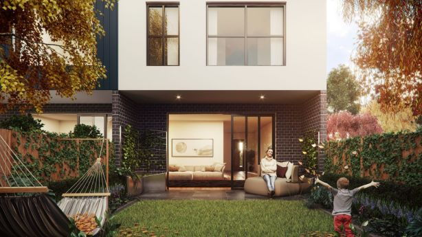 Each townhouse will have a courtyard. Photo: Supplied