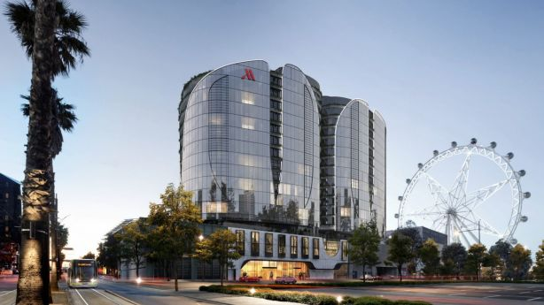 An artist's impression of Capital Alliance's mixed-use apartment and hotel project, The Docklands. Photo: Supplied