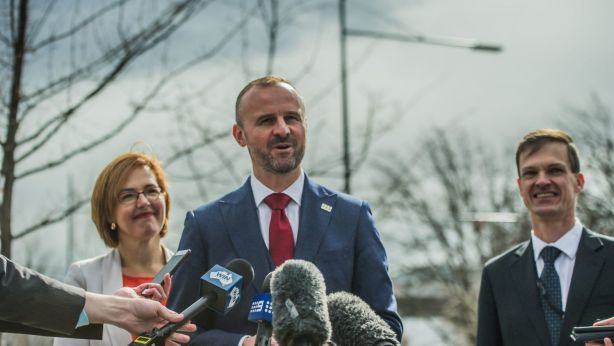 Chief Minister Andrew Barr first called for the tax to be abolished for all first home buyers nationwide in February. Photo: Karleen Minney