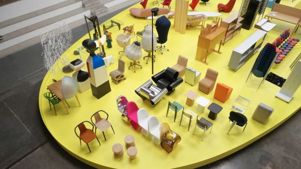 From egg-yolk to green-tinged citrine, yellow was favoured at Vitra's Typecasting exhibit, and at Hemma, the Swedish Design Exhibit. Photo: Julien Lanoo