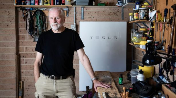 Concerns about climate change motivated Peter Youll to install a home battery. Photo: Louie Douvis