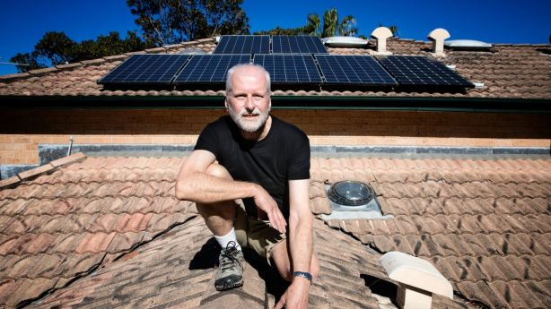 Mr Youll has 20 solar panels powering his home. Photo: Louie Douvis