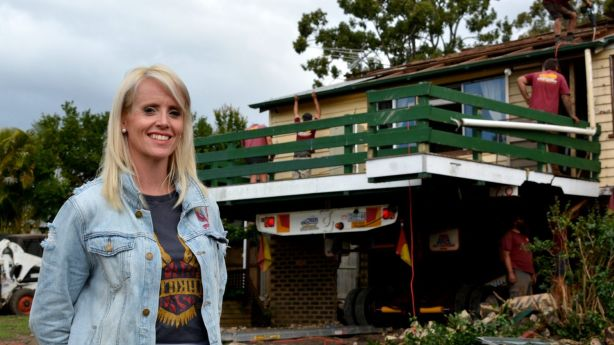 Ms Derksen says she was prepared to demolish the house but having it removed was a cheaper option. Photo: Zizi Averill
