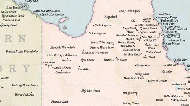 The Knob, Quality Knobs, Pinnacle Knob, Scrubby Knob or Iron Knob – take your pick, Queensland apparently has them all. Photo: Marvellousmaps.com
