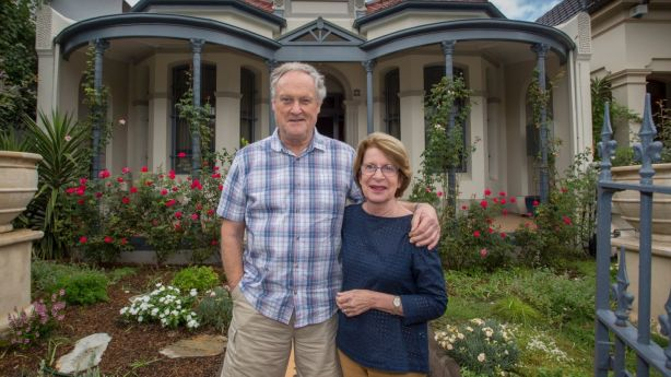 Tony and Jan Green and their new Glebe home. Photo: Quentin Jones