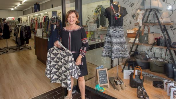 Dee Heagney, in her clothing store Urban Cachet, in Dulwich Hill. Photo: Quentin Jones