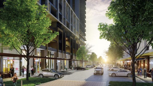 The South Village project includes plans for retail levels, which could add to Kirrawee's broader appeal. Photo: Artist's impression