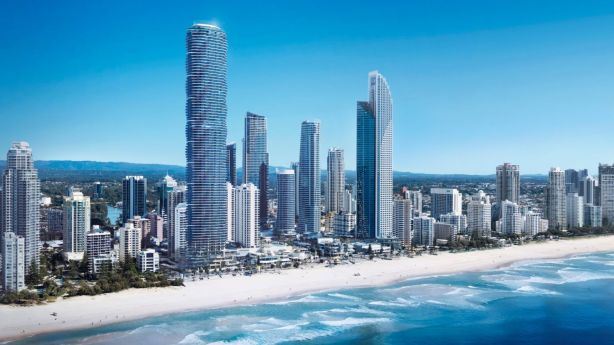 The new Spirit development at Surfers Paradise will tower over most of Surfers Paradise. Photo: Wes Palmer
