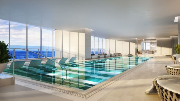 A render of the indoor pool. Photo: Supplied