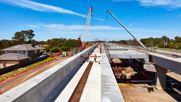 The government's $600 million Mernda rail extension is set to take its first passengers at the end of August. Photo: CRAIG MOODIE