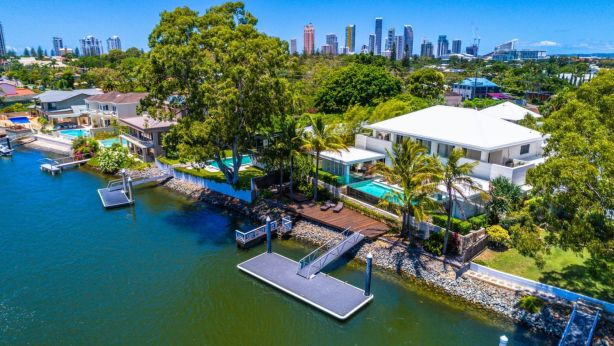 House prices at Broadbeach Waters have risen by 58 per cent over the past five years. Photo: Sean Strecker