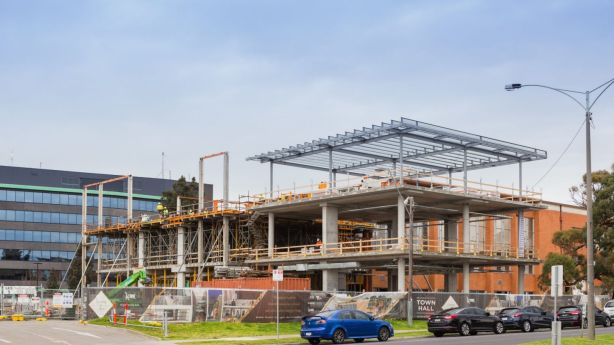 The redevelopment of the town hall is part of the suburb's facelift. Photo: Greg Briggs