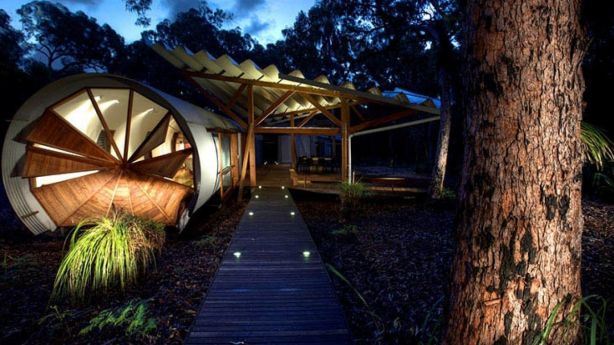 Drewhouse (The Pods), in Queensland, took out the unique category. Photo: Homeaway.com.au