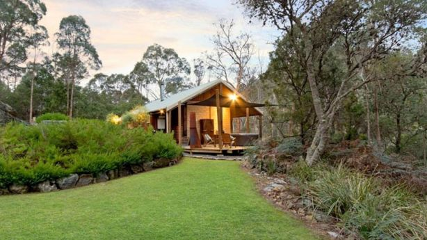This private Tasmania cottage with mud brick walls is also aimed at couples. Photo: Homeaway.com.au