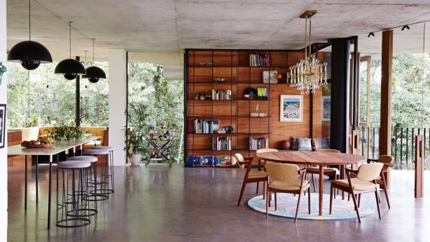 Materials and tones are expertly played against each other throughout Planchonella House. Photo: Sean Fennessy