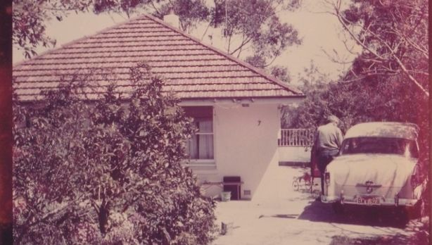 Ross Campbell outside the family home at the end of Coolabah Avenue the 1960s. Photo: Supplied