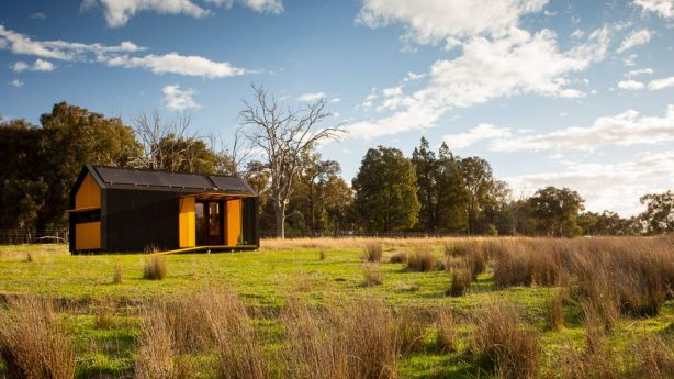 Architect Peter Maddison collaborated with the RACV to design a concept tiny home. Photo: Erin Davis Hartwig
