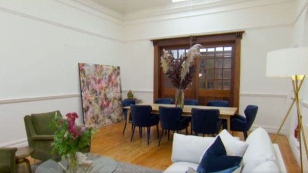 Bianca and Carla struggled to fill their dining room. Photo: Channel Nine