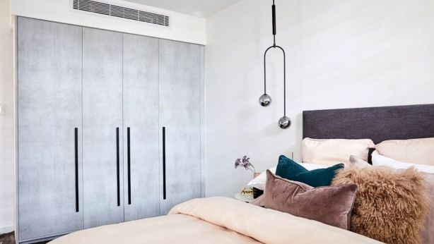 Wardrobe space for visitors is essential in a guest bedroom. Photo: Channel Nine