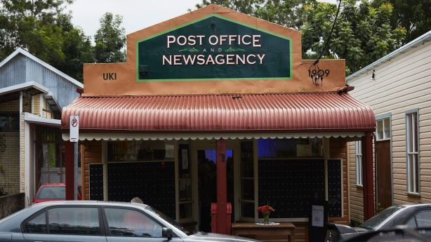 The post office/cafe/art gallery in Uki. Photo: Supplied