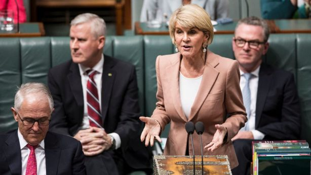 Julie Bishop in Parliament this week. Photo: Dominic Lorrimer