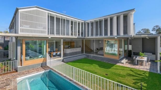 Brisbanes Hottest Listing Of 2018 This House Stops Traffic At - A-lovely-grey-house-in-paddington-sydney