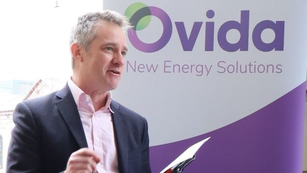 Ovida General Manager James Seymour. The energy company is retro-fitting three high-rise apartment blocks with solar power and batteries in an Australia-first trial.