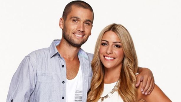 George and Bec Douros. Photo: Channel Nine