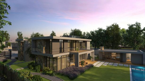 The development offers an exclusive gated community of a style more commonly seen in Malibu or the Hollywood Hills. Photo: Artist Impression
