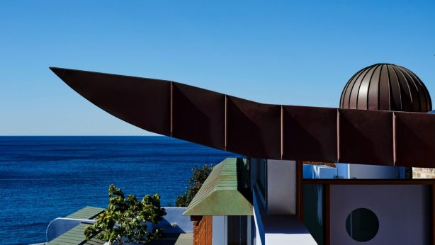 The striking roofline of the Hassall family's Bronte residence. Photo: Supplied