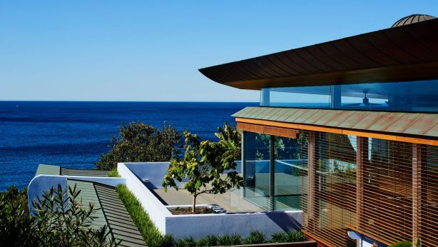 The Walter Barda-designed house is set above Bronte Baths. Photo: Supplied