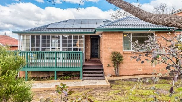The three-bedroom home sits on a 694-square metre block.