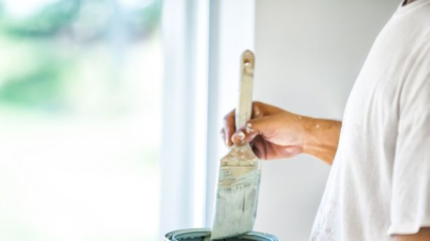 Making sure the paint dried hasn't even been a problem - because not a speck has even made it onto the house. Photo: iStock
